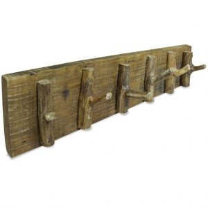 vidaXL Coat Rack Solid Reclaimed Wood 60×15 cm