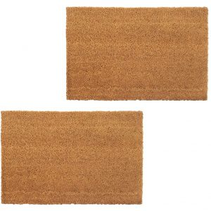 vidaXL Doormats 2 pcs Coir 17 mm 50×80 cm Natural