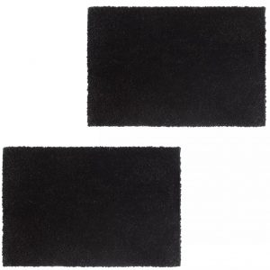 vidaXL Doormats 2 pcs Coir 17 mm 50×80 cm Black