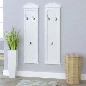 vidaXL Coat Racks 2 pcs White