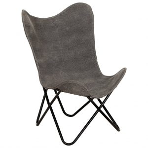 vidaXL Butterfly Chair Anthracite Canvas