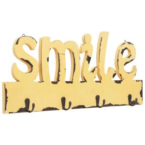 vidaXL Wall Mounted Coat Rack SMILE 50×23 cm