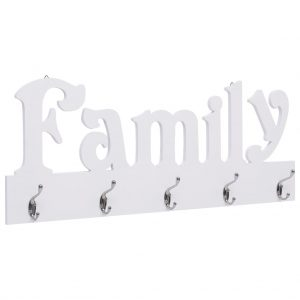 vidaXL Wall Mounted Coat Rack FAMILY 74×29.5 cm