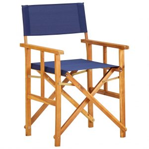 vidaXL Director's Chair Solid Acacia Wood Blue