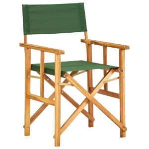 vidaXL Director's Chair Solid Acacia Wood Green