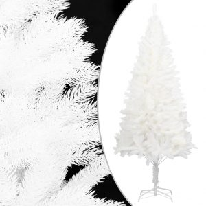vidaXL Artificial Christmas Tree with Stand White 210 cm PE