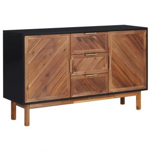 vidaXL Sideboard 115x35x70 cm Solid Acacia Wood and MDF