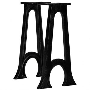 vidaXL Bench Legs 2 pcs with Arched Base A-Frame Cast Iron