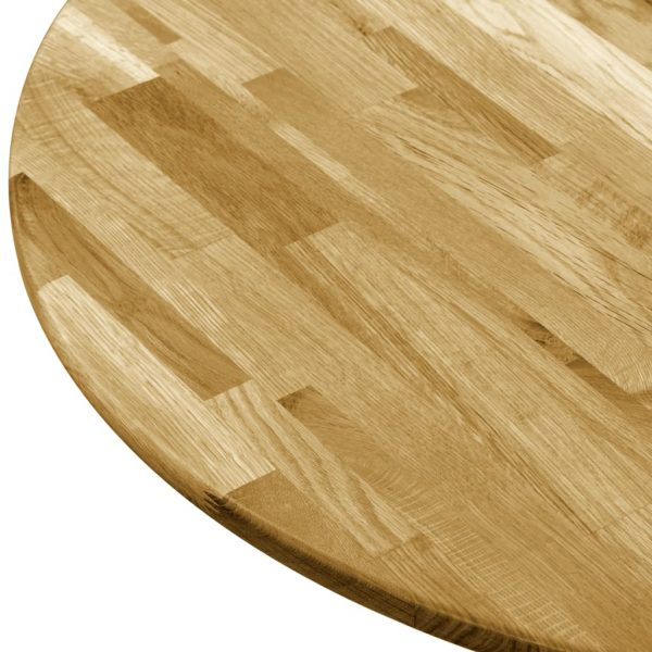 Table Top Solid Oak Wood Round 23 mm 700 mm