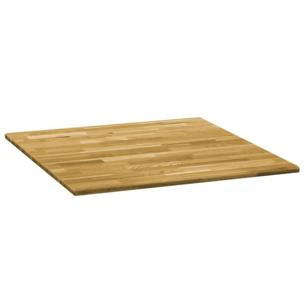 Table Top Solid Oak Wood Square 23 mm 70×70 cm