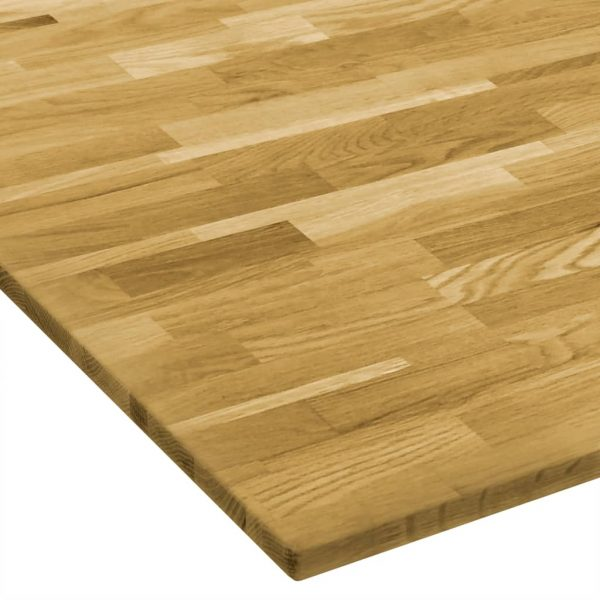 Table Top Solid Oak Wood Square 23 mm 80×80 cm