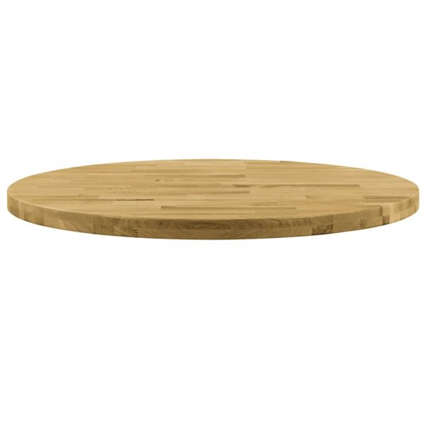 Table Top Solid Oak Wood Round 44 mm 700 mm