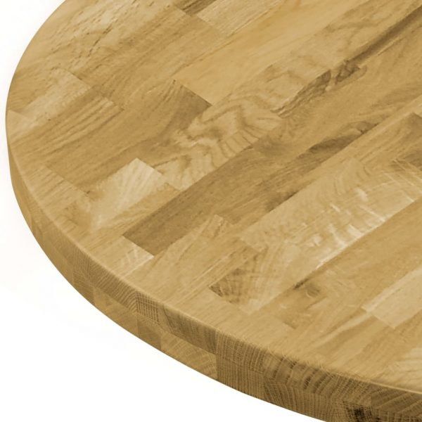 Table Top Solid Oak Wood Round 44 mm 800 mm