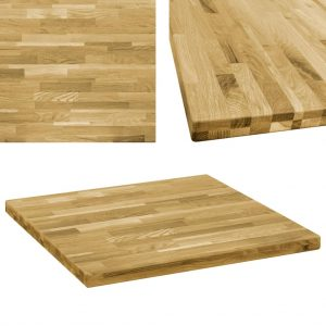 vidaXL Table Top Solid Oak Wood Square 44 mm 70×70 cm