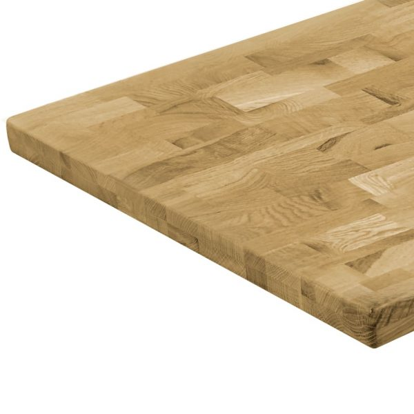 Table Top Solid Oak Wood Rectangular 44 mm 100×60 cm