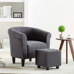 vidaXL Armchair Black Fabric
