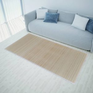 Rectangular Natural Bamboo Rug 80 x 300 cm