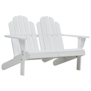 vidaXL Double Adirondack Chair Wood White