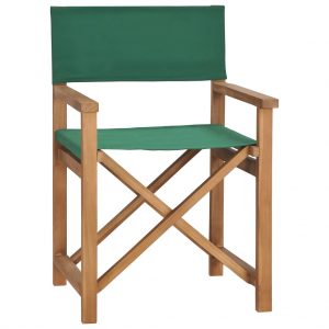 vidaXL Director's Chair Solid Teak Wood Green