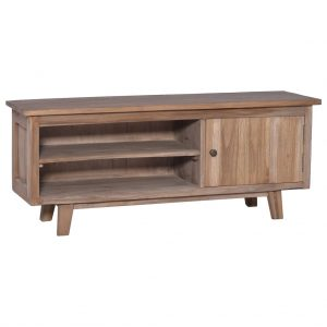 vidaXL TV Cabinet 100x30x40 cm Solid Teak Wood
