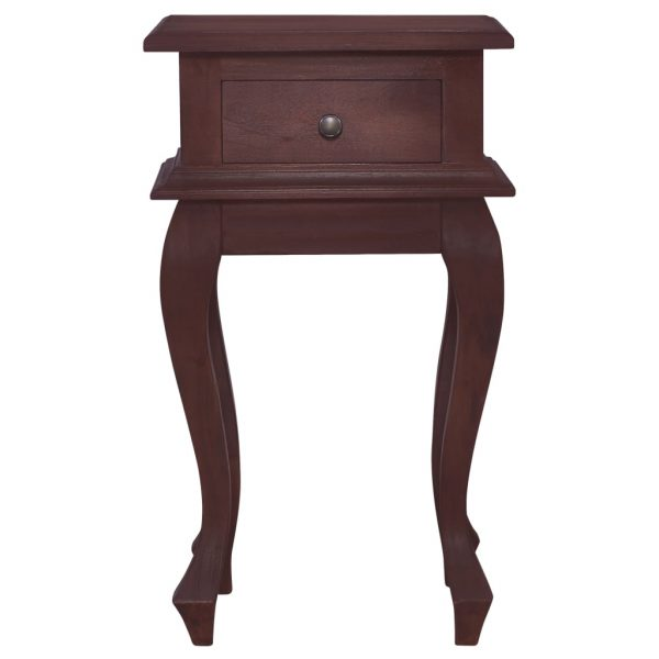 Bedside Table Classical Brown 35x30x60 cm Solid Mahogany Wood