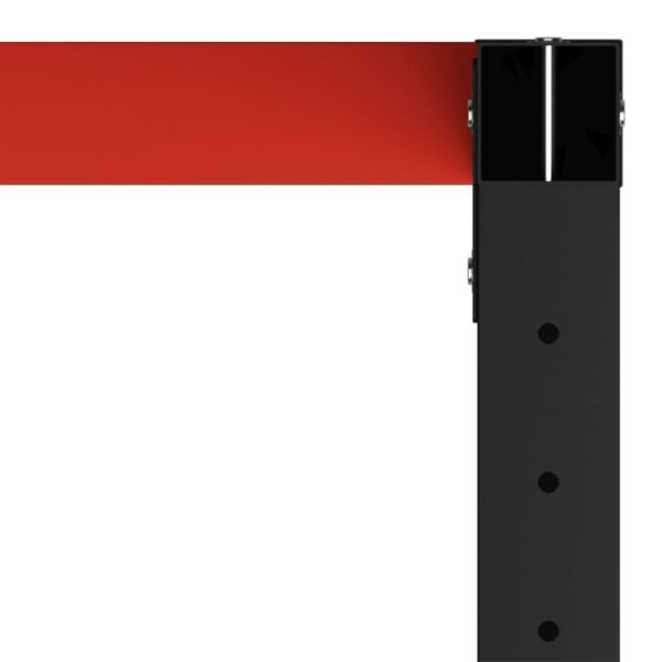 Work Bench Frame Metal 150x57x79 cm Black and Red