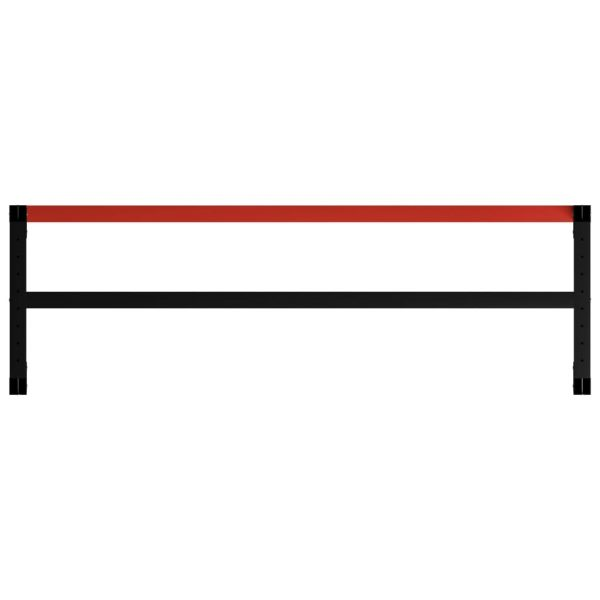 Work Bench Frame Metal 175x57x79 cm Black and Red