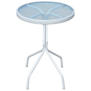 vidaXL Bistro Table Grey 50×71 cm Steel