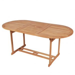 vidaXL Garden Table 180x90x75 cm Solid Teak Wood