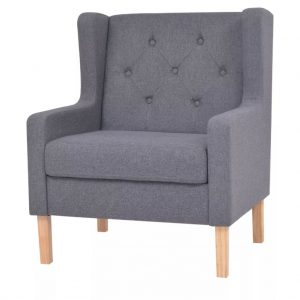 vidaXL Armchair Grey Fabric