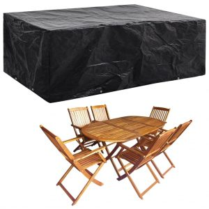 vidaXL Garden Furniture Cover 8 Eyelets 242x162x100 cm