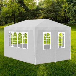 vidaXL Party Tent 3×4 m white