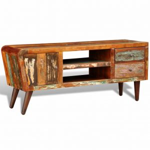 Reclaimed Wood TV Cabinet 1 Door 2 Drawers