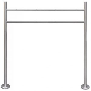 vidaXL Stainless Steel Stand for Double Mailbox