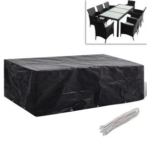 vidaXL Garden Furniture Cover 8 Person Poly Rattan Set 10 Eyelets 300 x 140cm