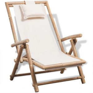 vidaXL Outdoor Deck Chair Bamboo