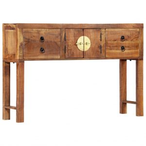 vidaXL Console Table 120x30x80 cm Solid Acacia Wood