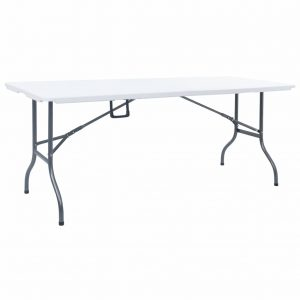 vidaXL Folding Garden Table White 180x72x72 cm HDPE