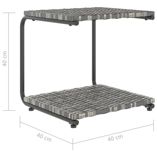 2-Person Garden Sun Bed with Cushions Poly Rattan Grey