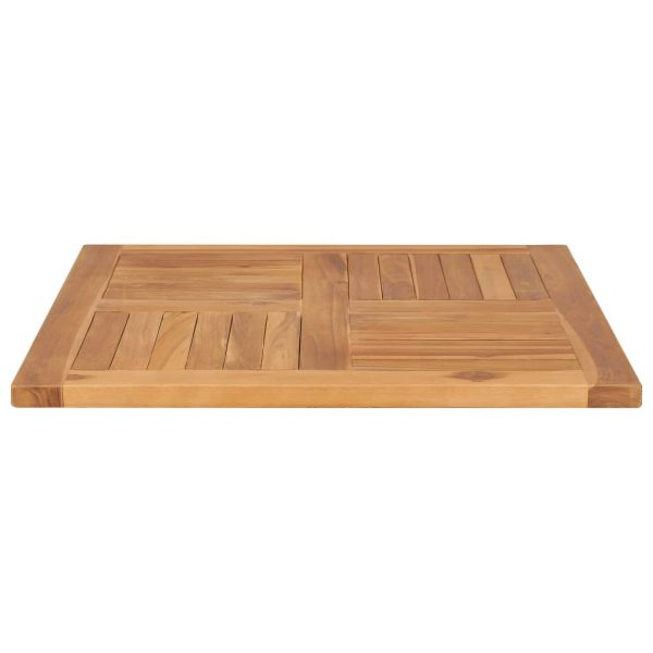 Table Top Solid Teak Wood 70x70x2.5 cm