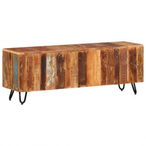 vidaXL TV Cabinet 110x30x40 cm Solid Reclaimed Wood