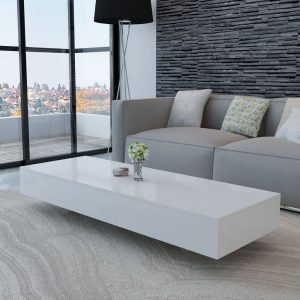 vidaXL Coffee Table High Gloss White