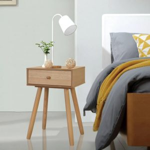 vidaXL Bedside Tables 2 pcs Solid Pinewood 40x30x61 cm Brown