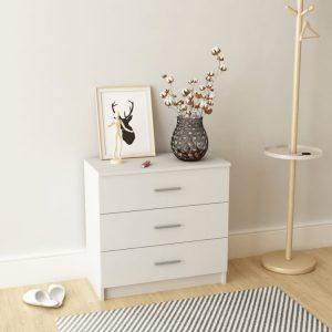 vidaXL Chest of Drawers Chipboard 71x35x69 cm White