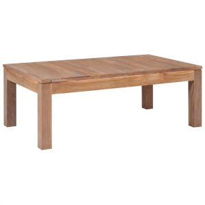 vidaXL Coffee Table Solid Teak Wood with Natural Finish 110x60x40 cm