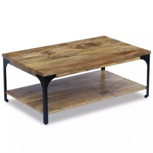 vidaXL Coffee Table Mango Wood 100x60x38 cm