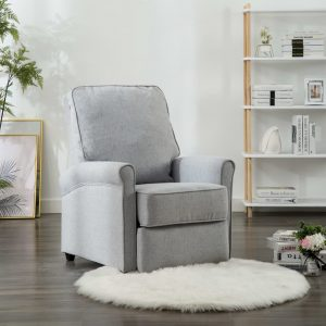 vidaXL TV Recliner Chair Light Grey Fabric