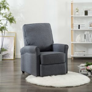 vidaXL TV Recliner Chair Dark Grey Fabric