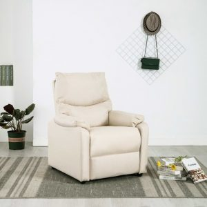 vidaXL TV Recliner Cream Fabric
