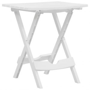 vidaXL Folding Garden Table 45.5×38.5×50 cm White